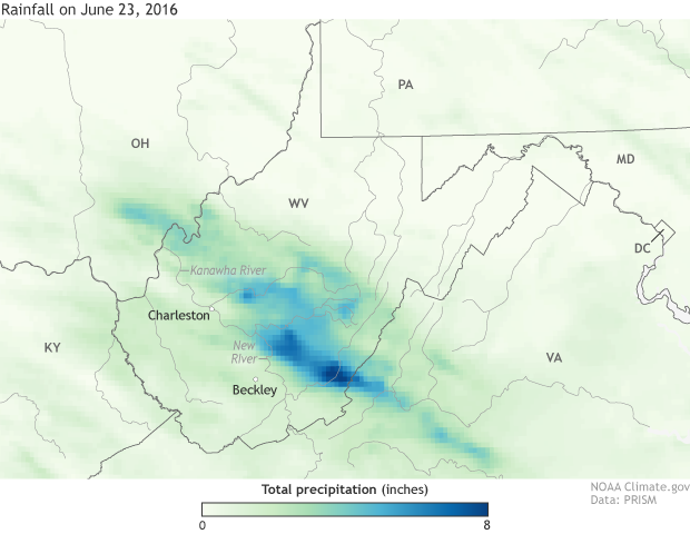 Precipitation, rain, West Virginia, flooding
