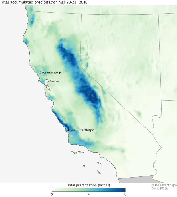 Rainfall, Precipitation, California, Atmospheric River