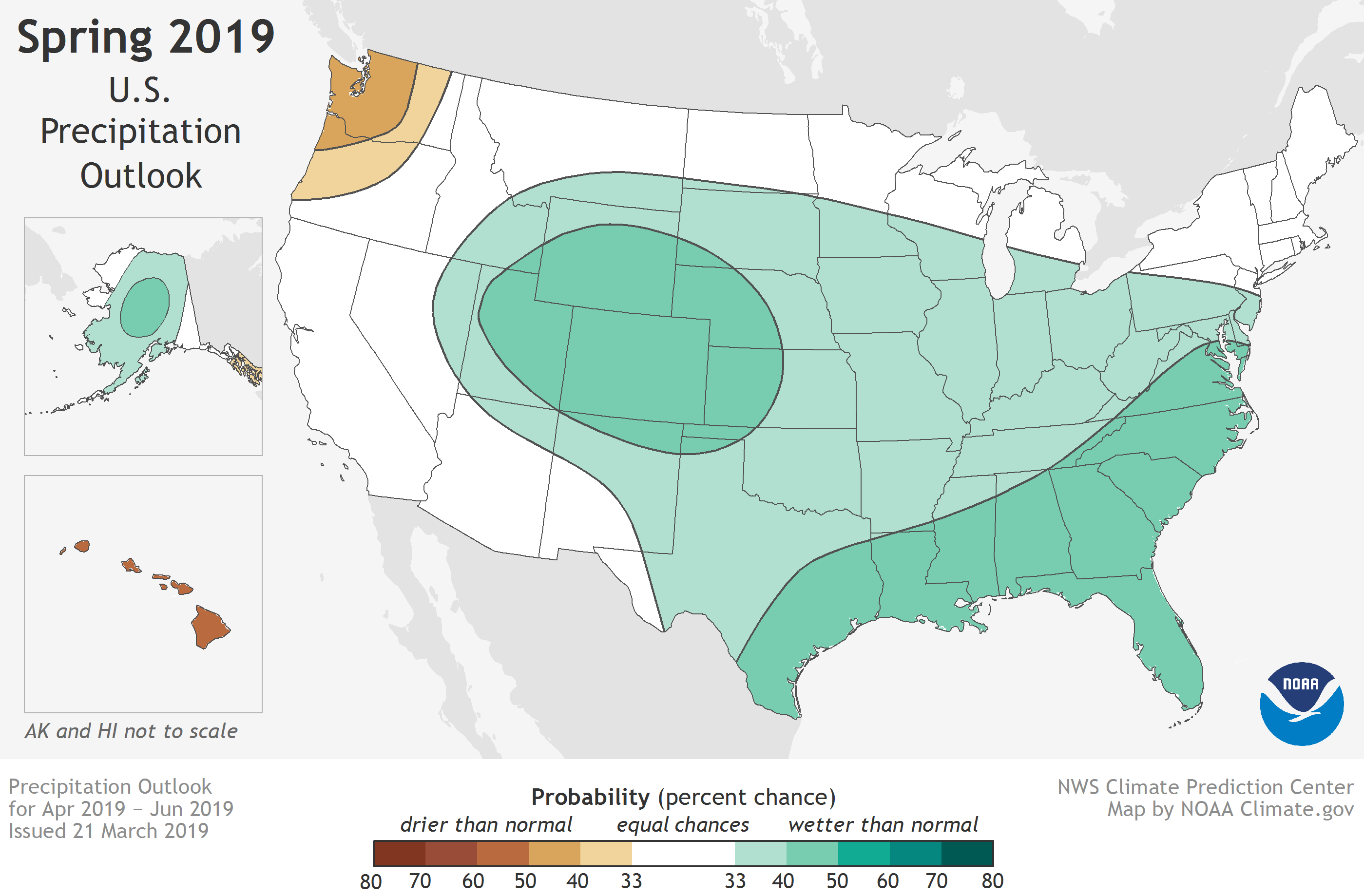 Us Flood Map Global Warming U.S. flood and climate outlook for spring 2019 | NOAA Climate.gov
