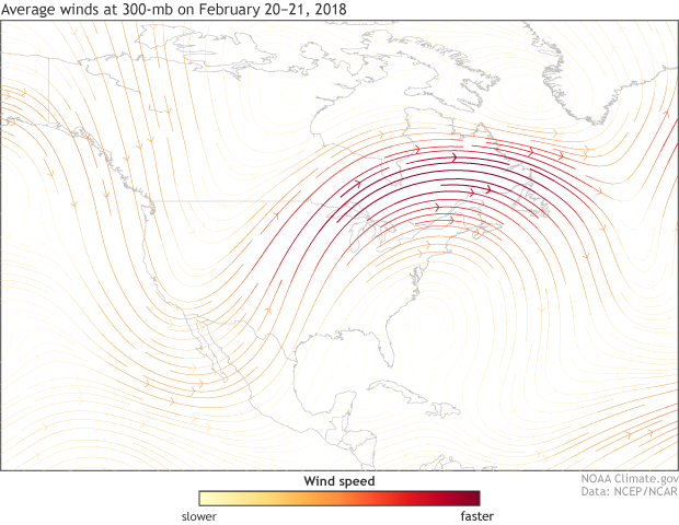 300mb, winds, jet stream, United States