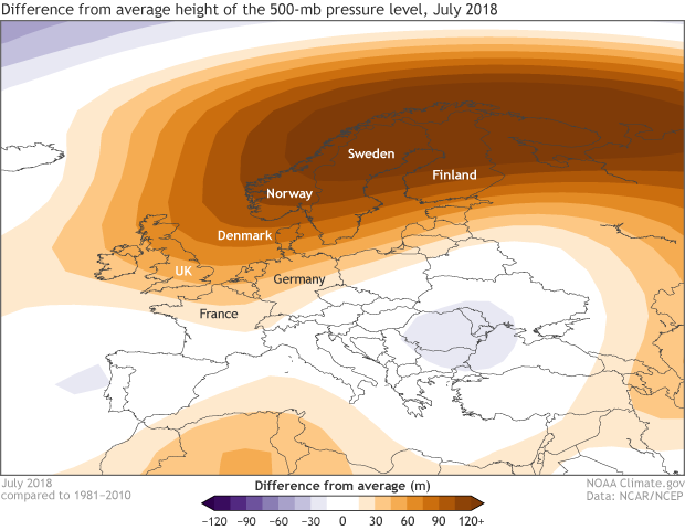 heat wave, heat, Europe, drought, 500mb