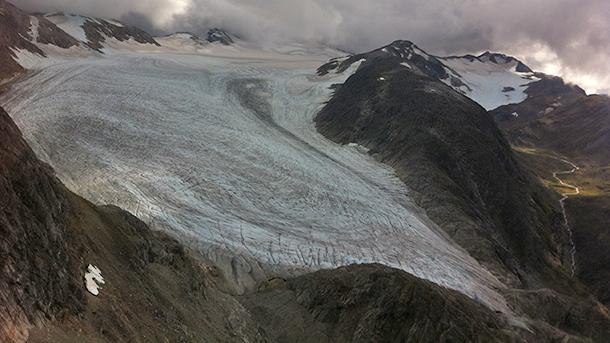 Photo of Alaska's Lemon Creek Glacier in September 2014