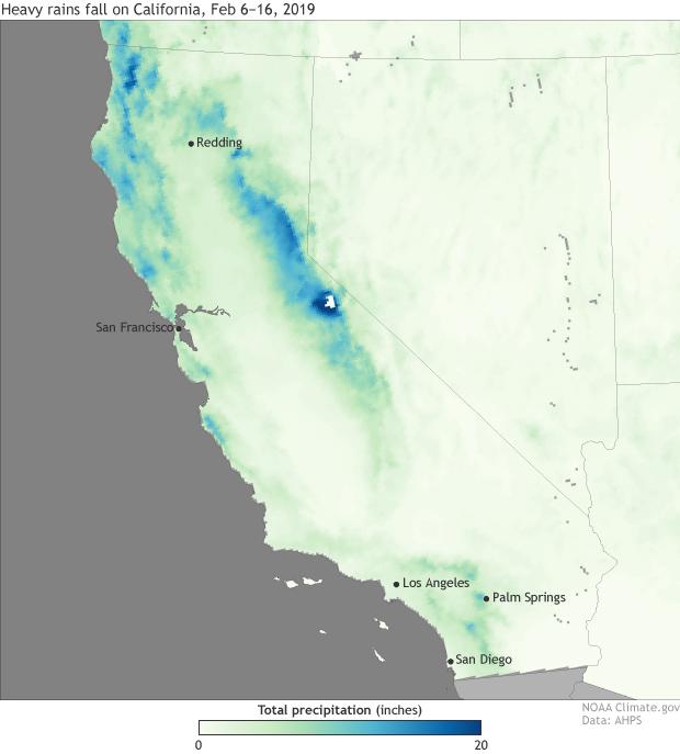 rainfall, snowfall, precipitation, atmospheric river, california