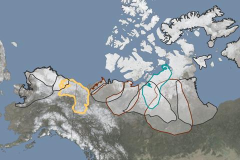 Map of reindeer herd boundaries