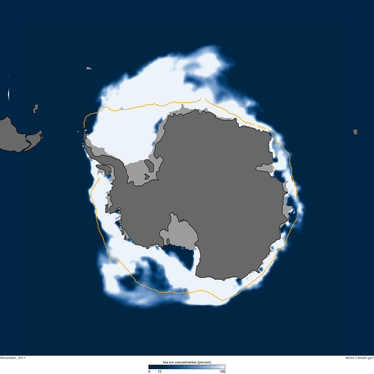 Polar Opposites The Arctic And Antarctic NOAA Climategov - Us gove ice map