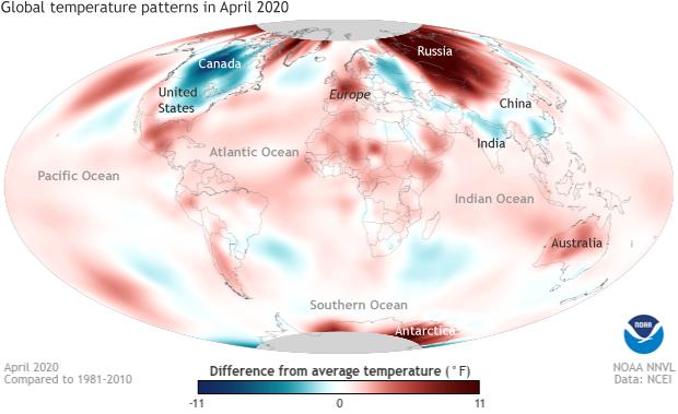 temperature, anomaly, April, global temperatures