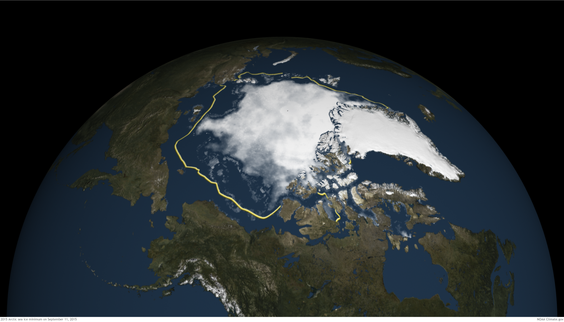 Arctic Sea Ice Fourth Lowest On Record NOAA Climategov - Us gove ice map