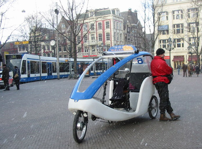 Photo of bicycle taxi