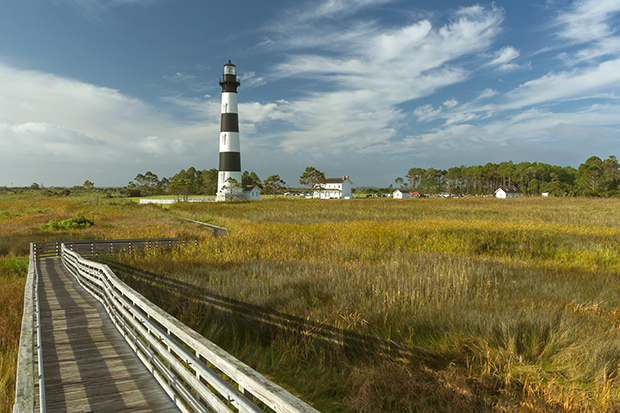 Bodie Lighthouse and wetlands on the Outer Banks