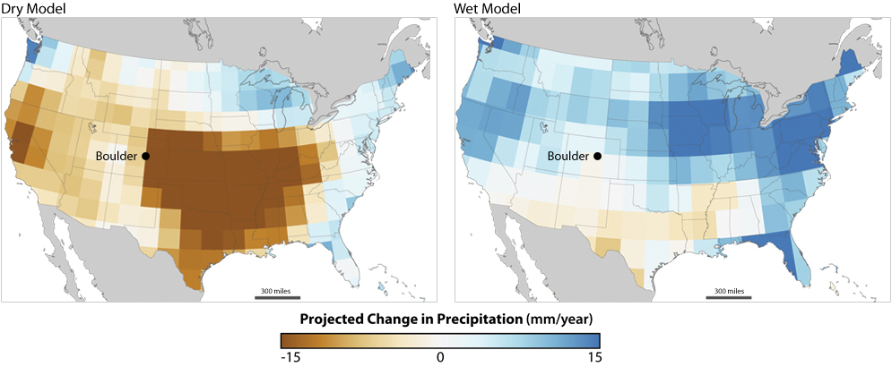 Will Boulders Water Supply Stand Up To Climate Change NOAA - Climate change projections us map
