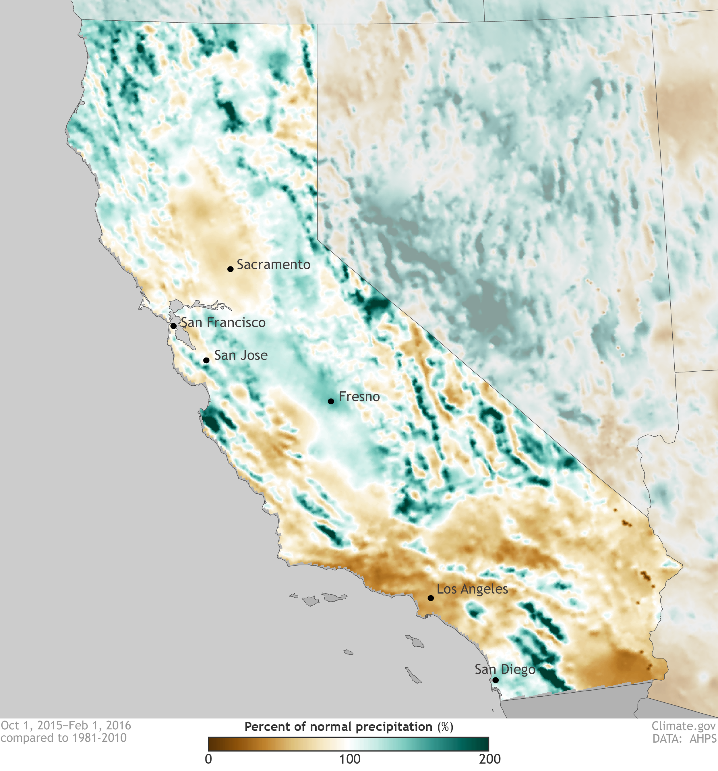 California's precipitation for the rainy season to date is a mix of ...