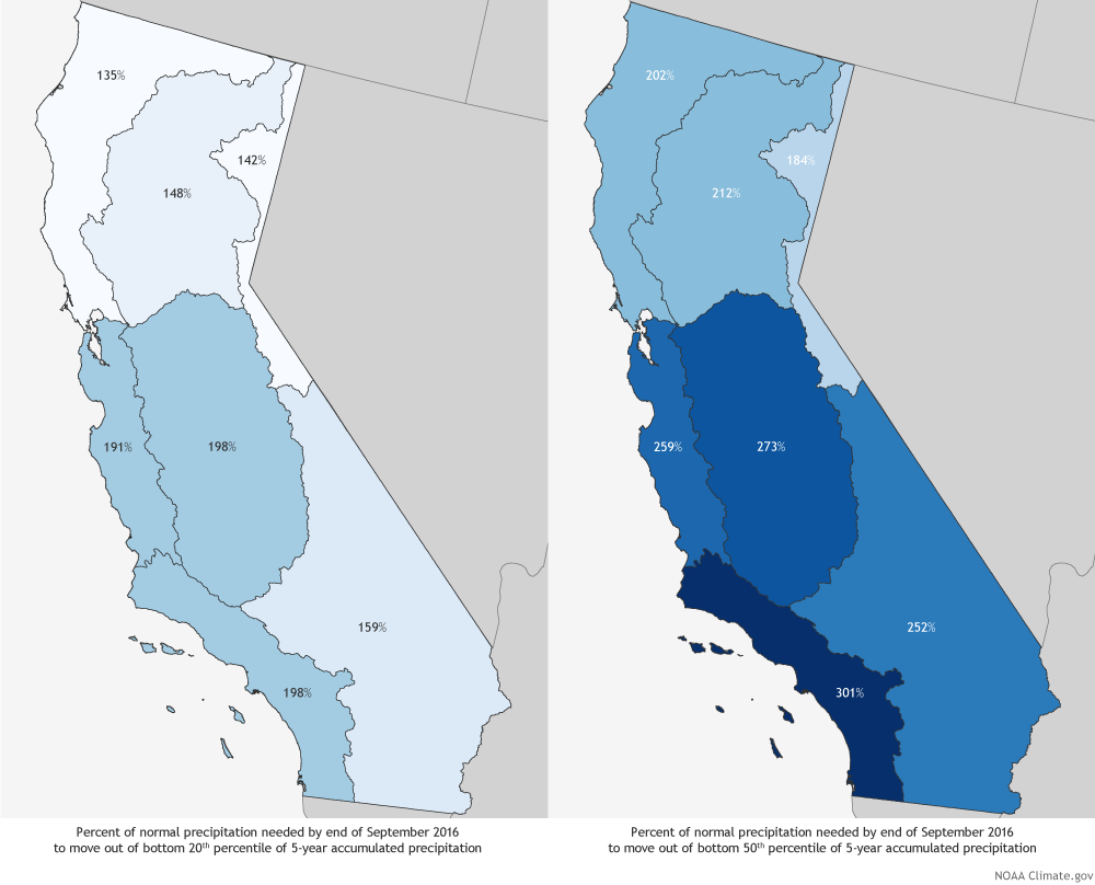 How Deep Of A Precipitation Hole Is California In NOAA Climategov - Map of 2016 us rainfall amounts