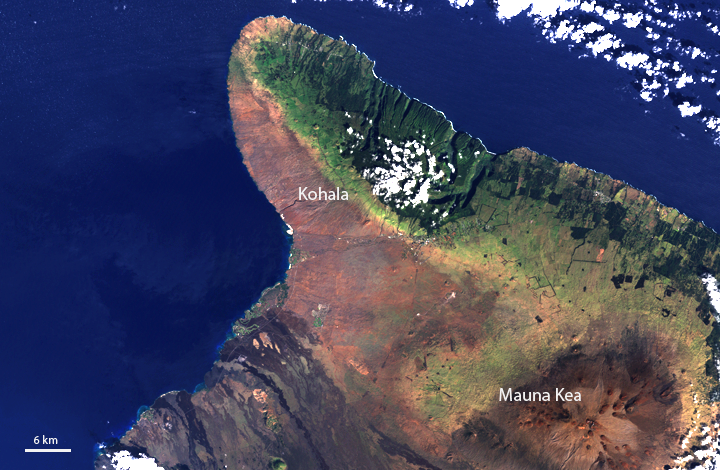 Landsat image of Hawaii, Big Island