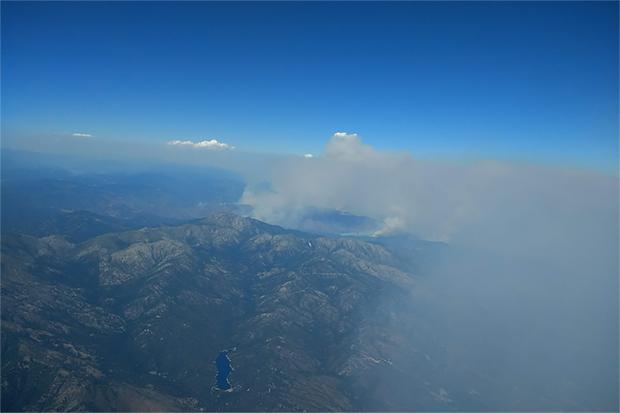 Closer shot of Carr Fire