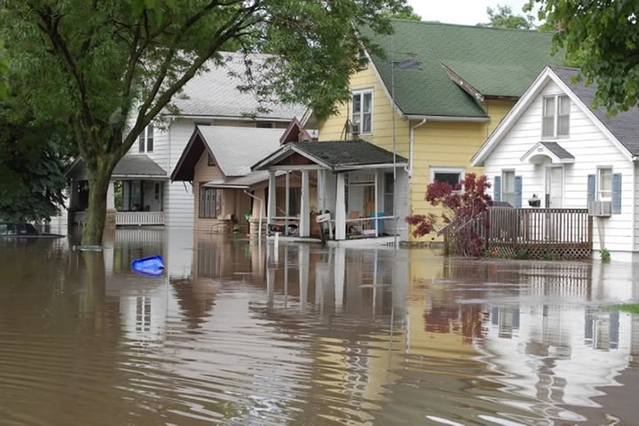 Flooding in Cedar Rapids, Iowa