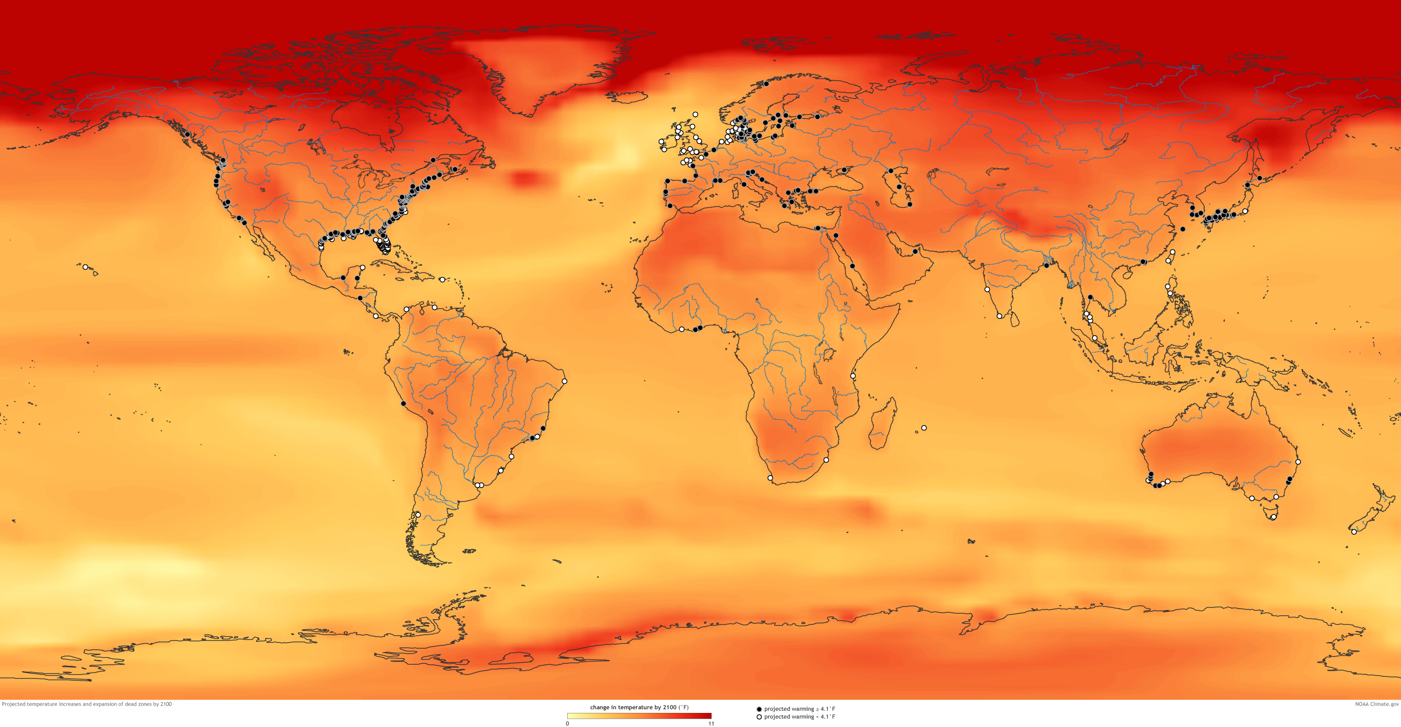 Climate Change Likely To Worsen US And Global Dead Zones NOAA - Us climate map zone images