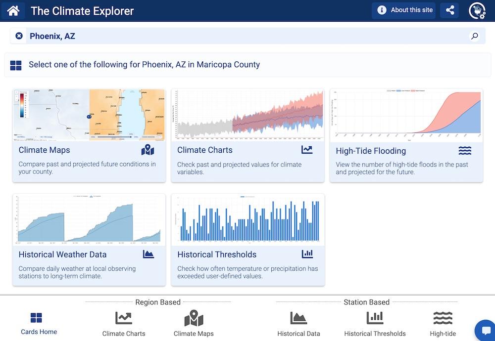 Screenshot of Climate Explorer 3