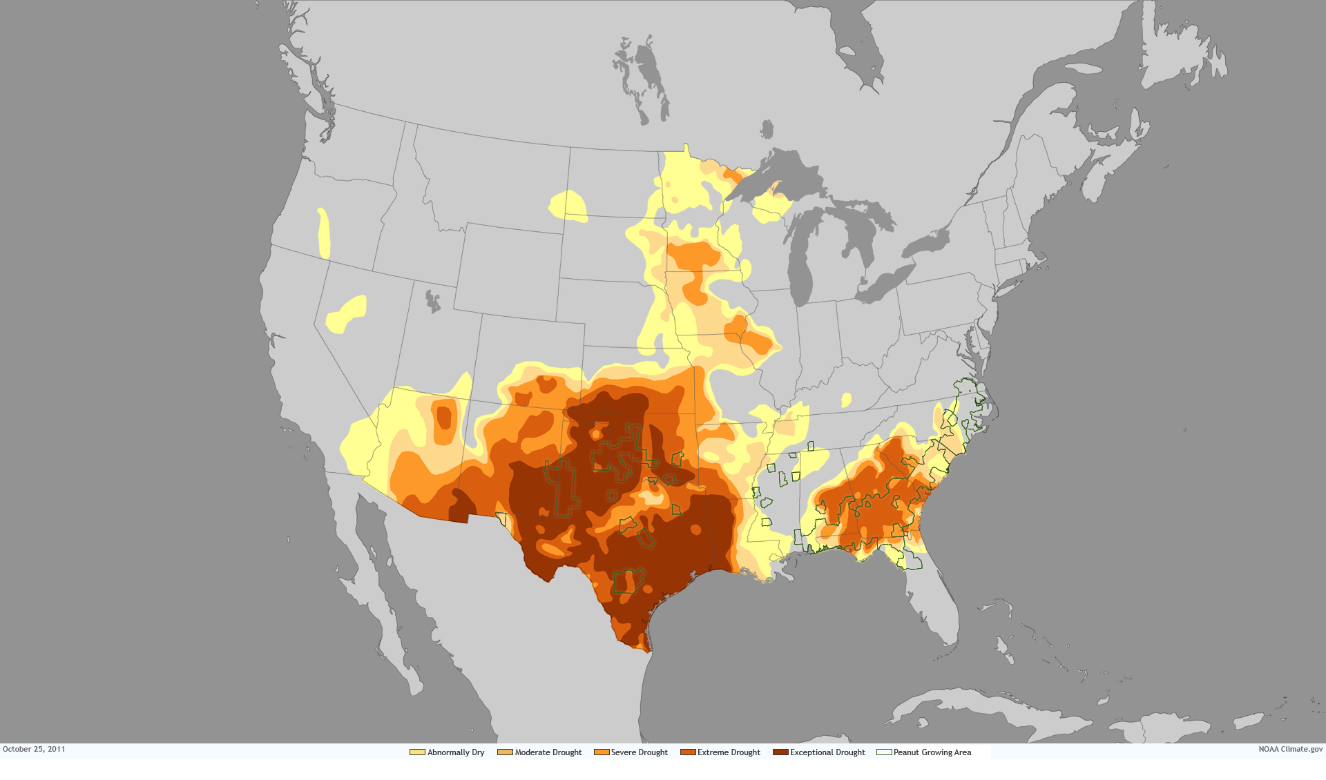Climate Peanut Butter NOAA Climategov - Us growing season map