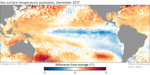 Sea Surface Temperature Anomaly, La Nina, ENSO