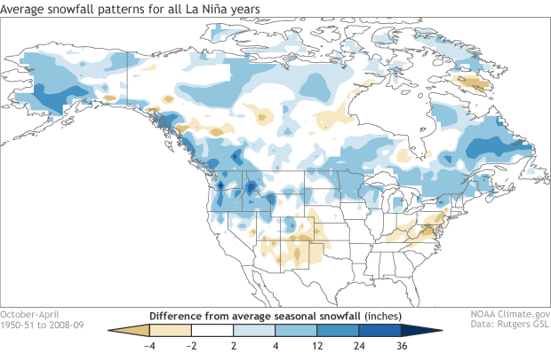 All La Nina winter composite