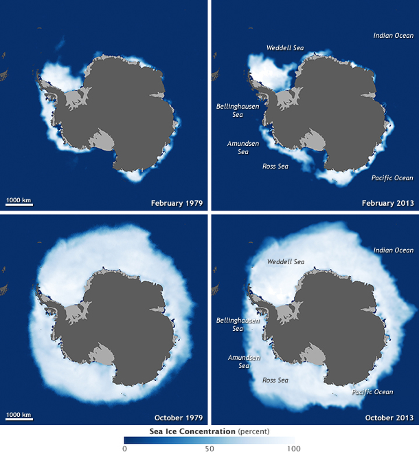 Antarctic Sea Ice 1979 to 2013