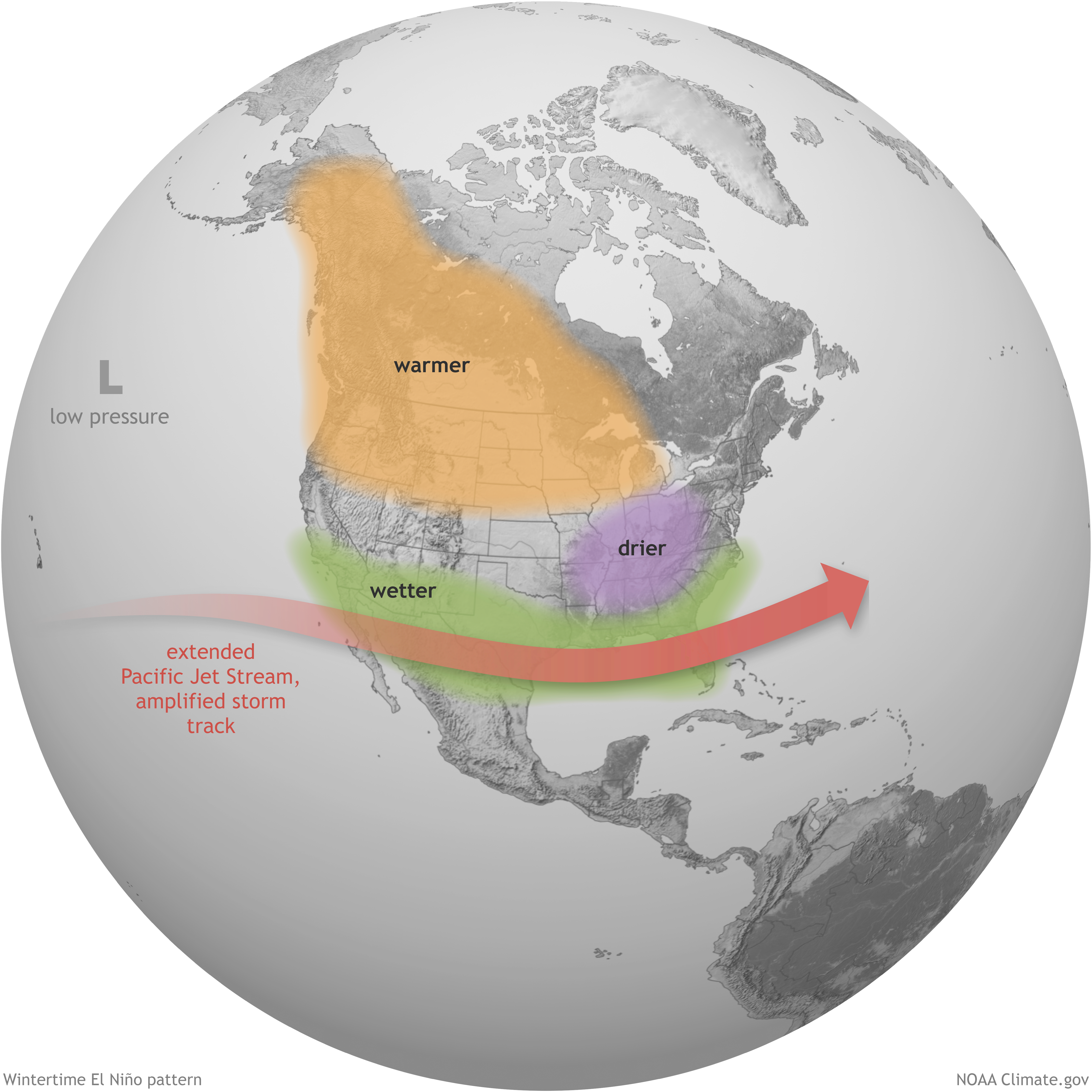 How El Niño and La Niña affect the winter jet stream and U.S. ...