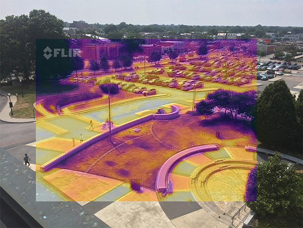 Forward looking infrared (FLIR) camera image
