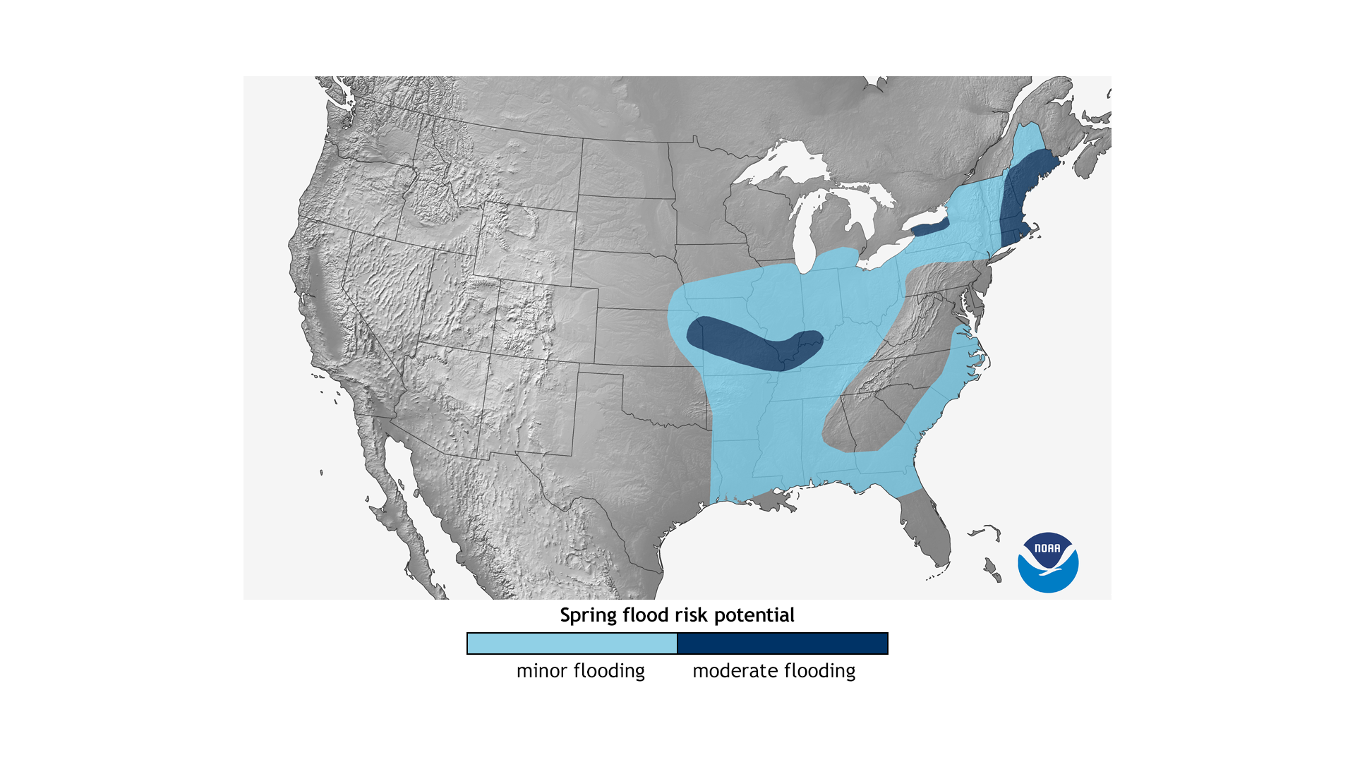 Spring Outlook NOAA Climategov - Map of flooding in us