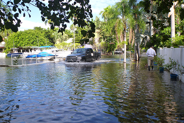King tide, sea level rise, flooding, Florida