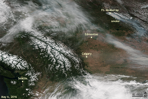 Satellite, Fire, wildfire, forest fire, Canada, Fort McMurray