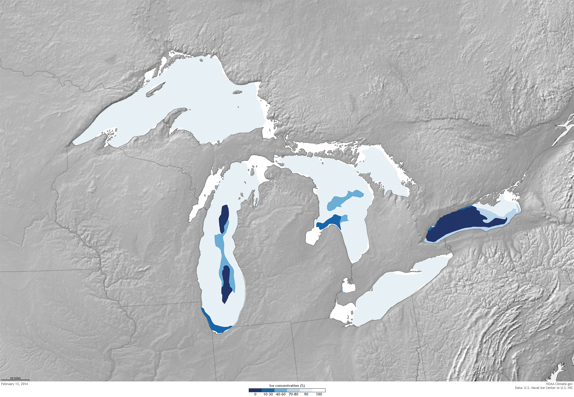 Great Lakes ice cover most extensive since mid90s NOAA Climategov