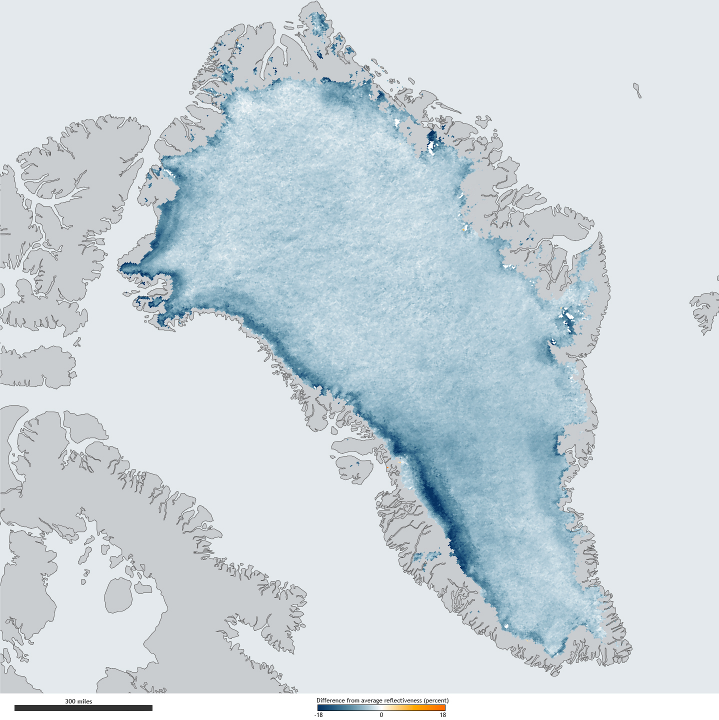 Greenland Ice Sheet Getting Darker NOAA Climategov - Us gove ice map