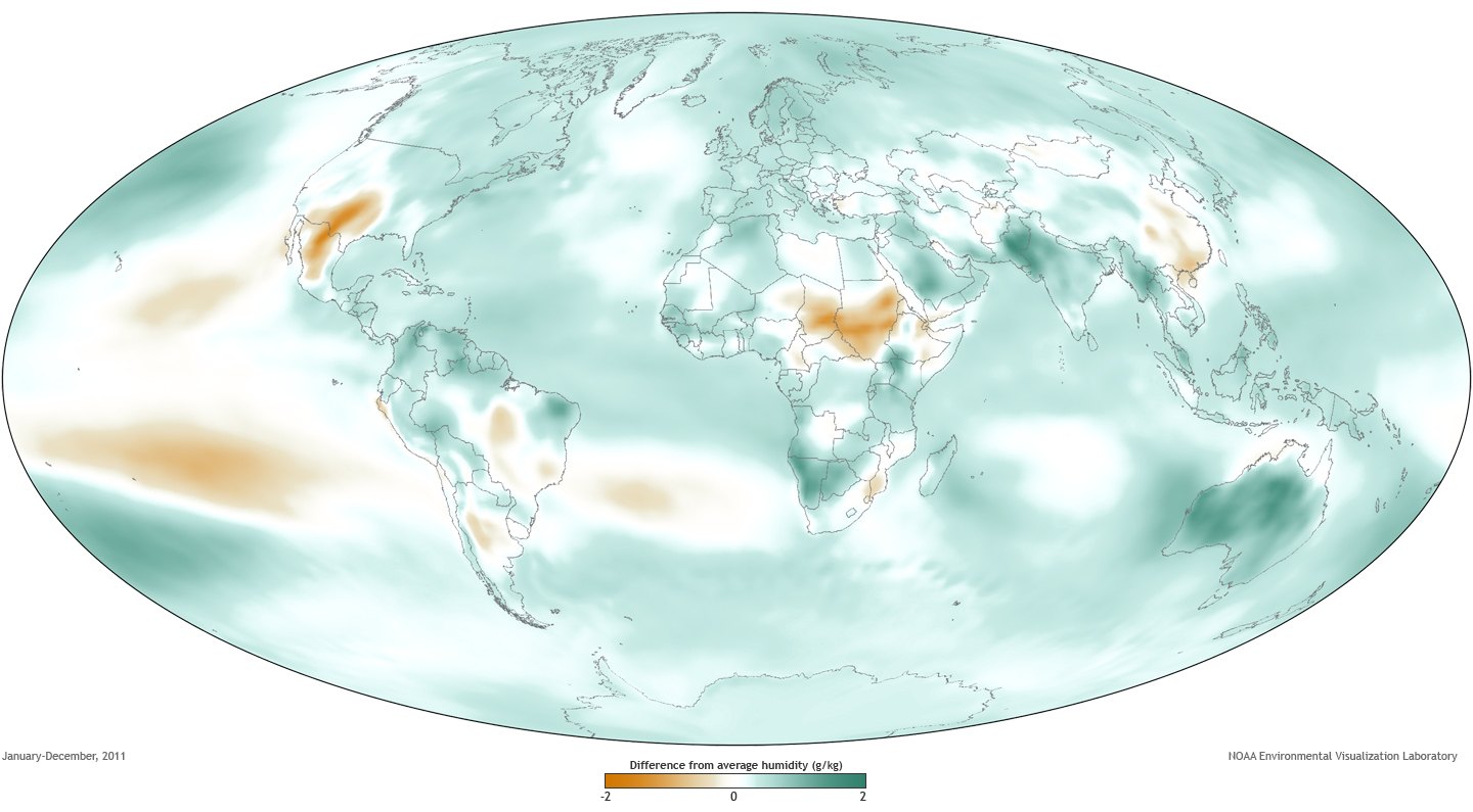 State Of The Climate Humidity NOAA Climategov - Humidity map