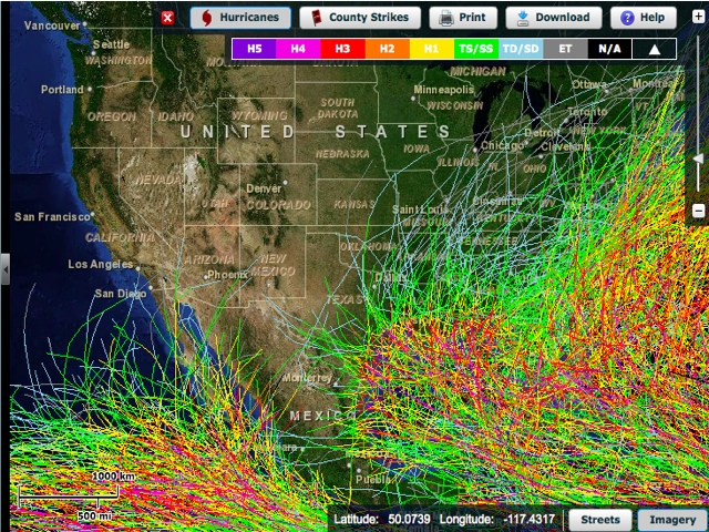 Historical Hurricane Tracks Gis Map Viewer Noaa Climategov - Us-navy-hurricane-tracking-map