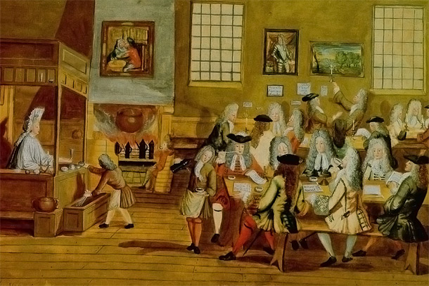 17th-century coffeehouse interior