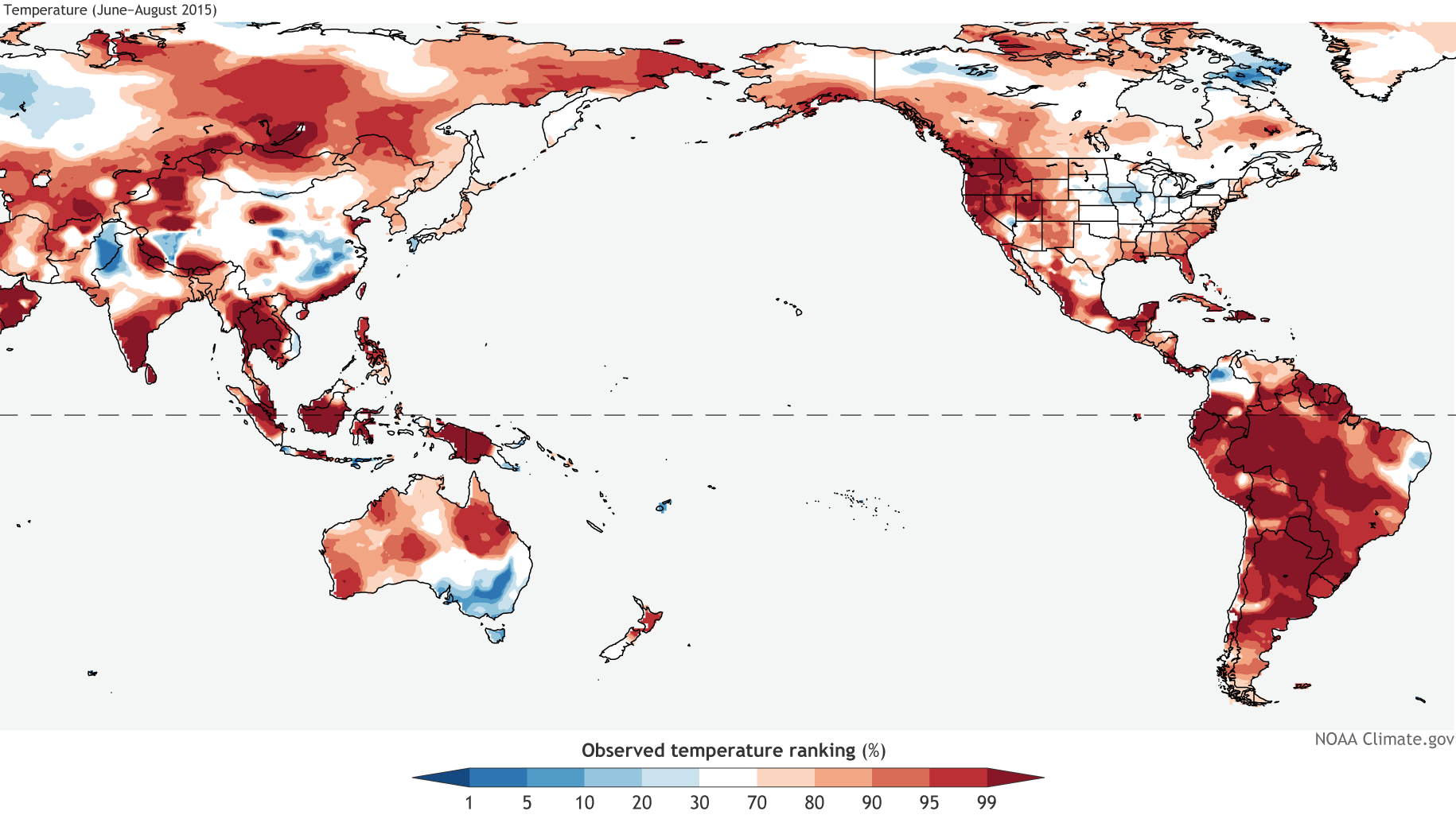 September  El Niño Update And QA NOAA Climategov - North america air temperature map