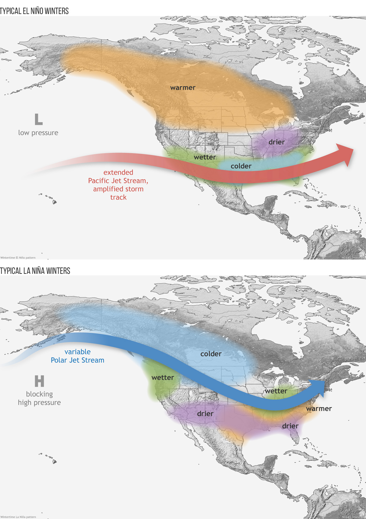 ENSO Winter Patterns for the United States