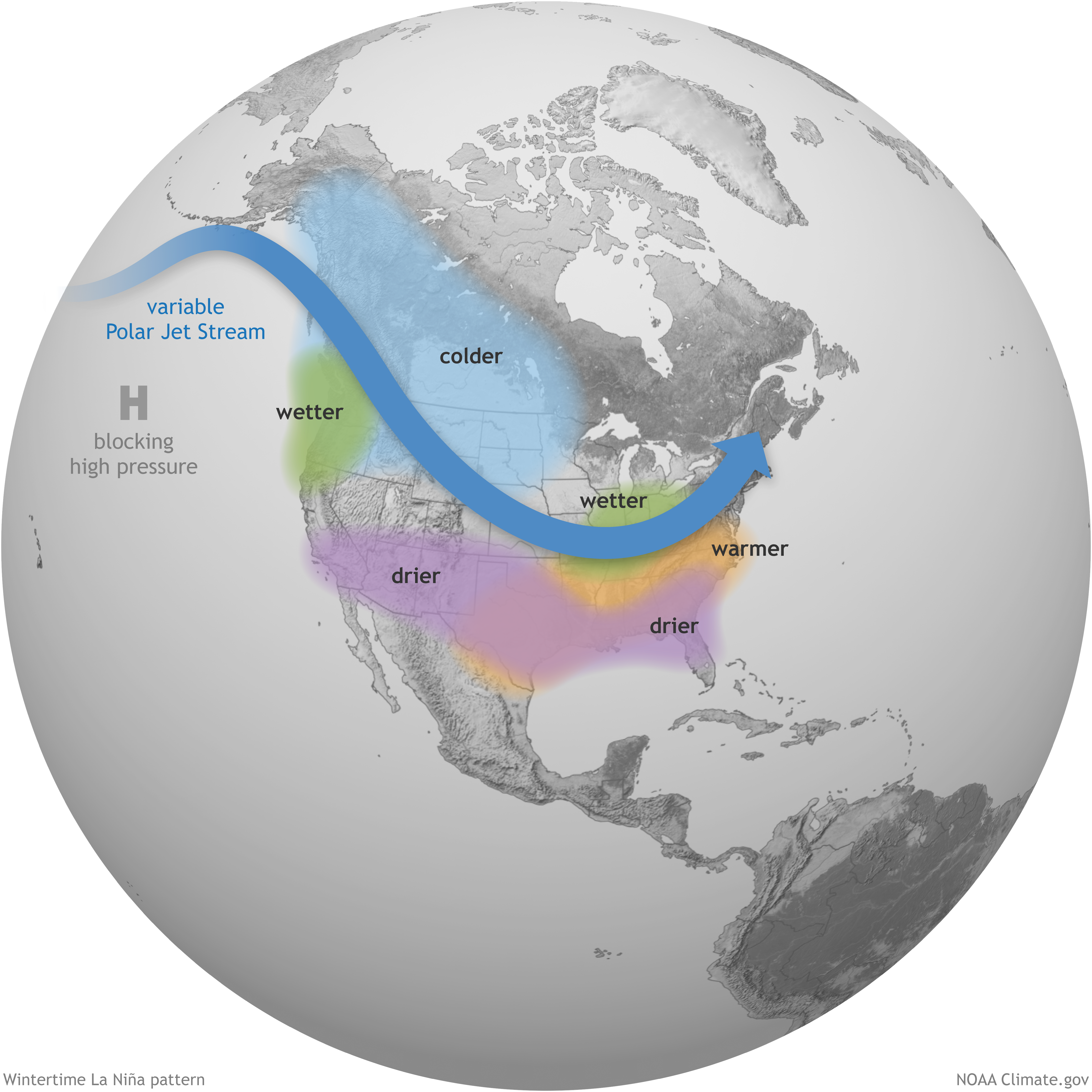 Typical La Nina Pattern