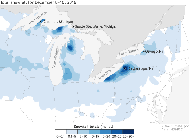 Snow, Lake effect, Great Lakes