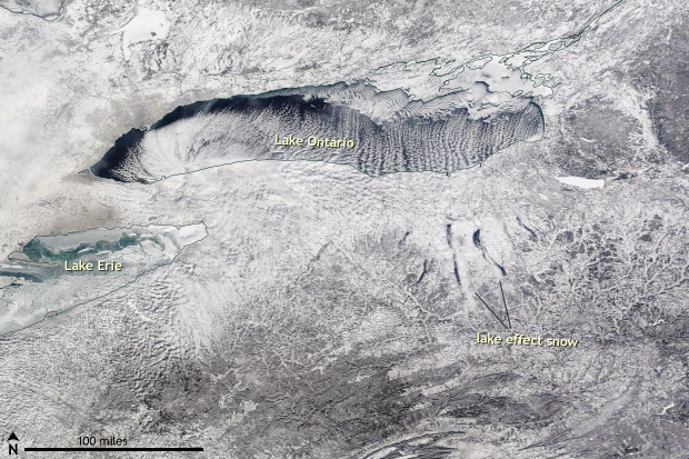 Snow, Lake effect, Great Lakes, Finger Lakes