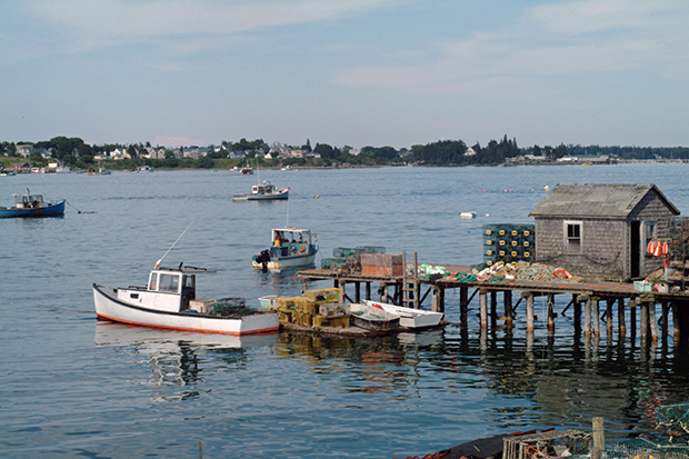 Lobster boat in Maine (photo)