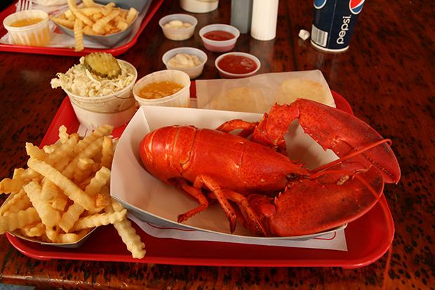 Boiled Lobster Dinner (photo)