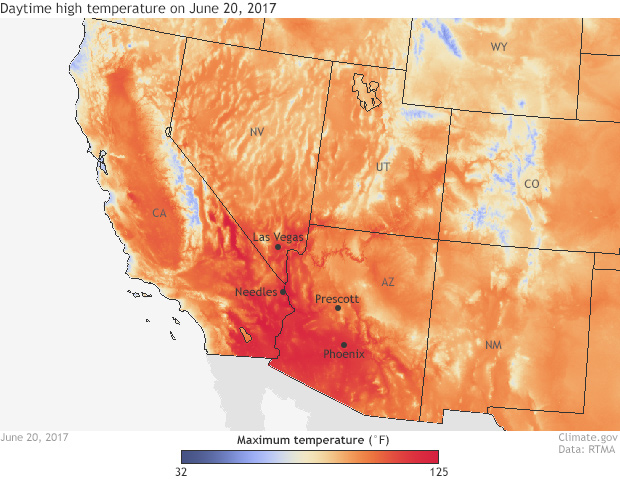 RTMA, satellite, temperature, heat wave