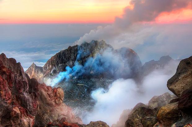Mount Merapi degassing