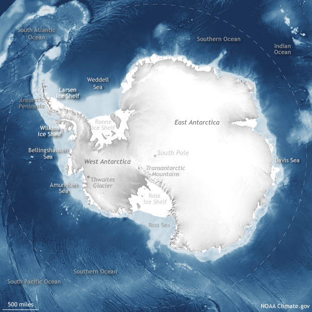 Antarctica locator map