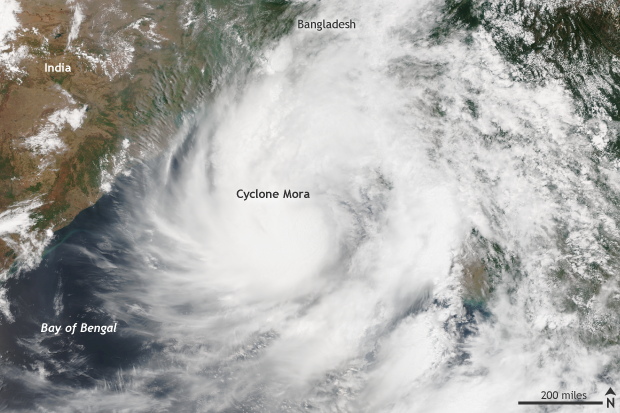 NOAA, Suomi, Cyclone Mora, Indian Ocean, Bay of Bengal, Bangladesh
