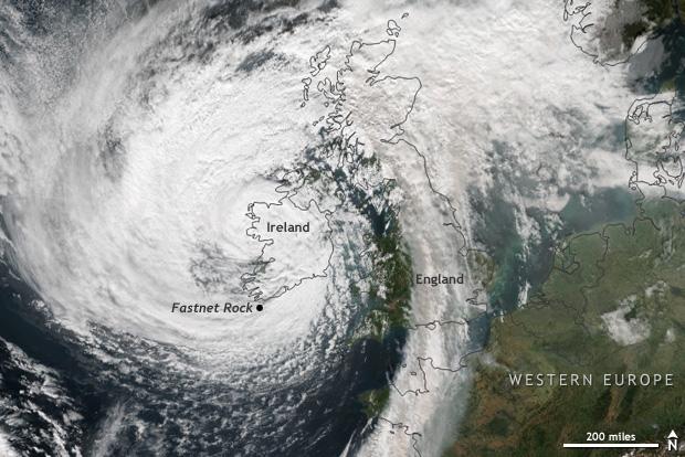 Suomi, Satellite, Hurricane Ophelia, Ireland