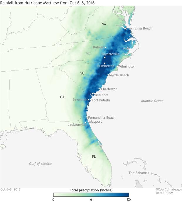 Rainfall, hurricane, USA