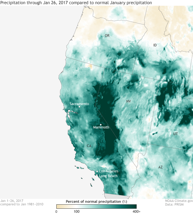 Anomaly, precipitation, percent of normal, california, drought relief