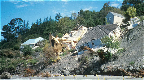 Landslide damage